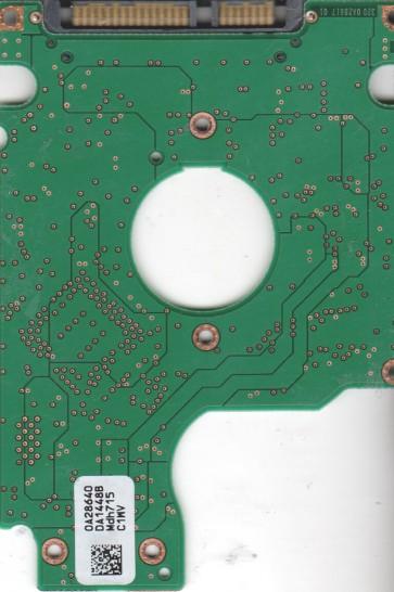HTS541080G9SA00, 0A28640 DA1448B, PN 0A27464, Hitachi 80GB SATA 2.5 PCB