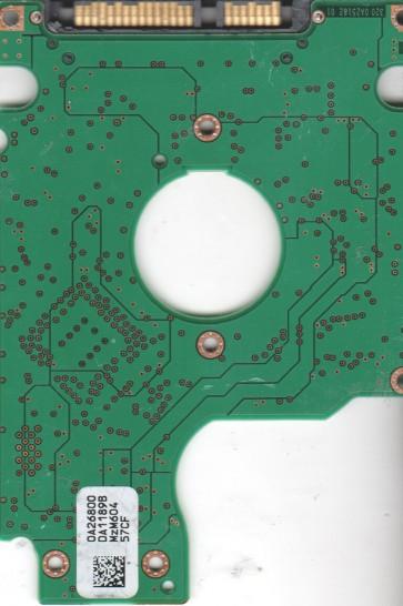HTS541010G9SA00, 0A26800 DA1189B, PN 0A50010, Hitachi 100GB SATA 2.5 PCB