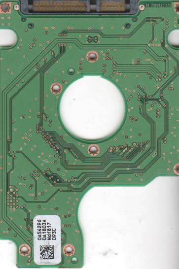 HTS542512K9SA00, 0A54296 DA1803A, PN 0A54883, Hitachi 120GB SATA 2.5 PCB