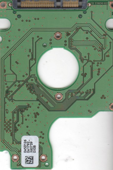 HTS541612J9SA00, 0A53126 DA1792_, PN 0A53663, Hitachi 120GB SATA 2.5 PCB