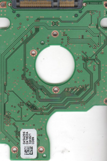 HTS542516K9SA00, 0A54296 DA1803A, PN 0A54824, Hitachi 160GB SATA 2.5 PCB