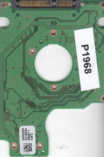 HTS542516K9SA00, 0A54296 DA1803A, PN 0A54874, Hitachi 160GB SATA 2.5 PCB