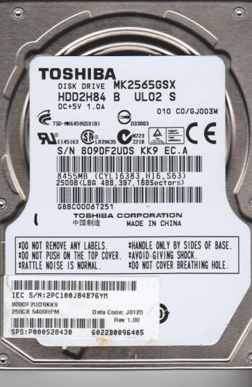 MK2565GSX, C0/GJ003M, HDD2H84 B UL02 S, Toshiba 250GB SATA 2.5 Hard Drive