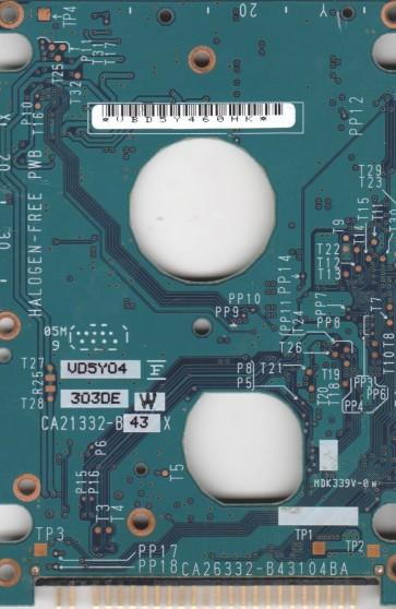 MHV2060AH PL, CA06531-B36200C1, CA26332-B43104BA, Fujitsu 60GB IDE 2.5 PCB