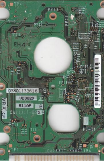 MHS2060AT, PN CA06272-B64600C3, Fujitsu 60GB IDE 2.5 PCB