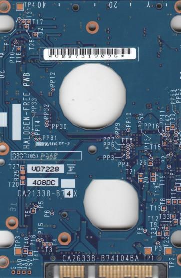 MHV2060BH PL, PN CA06672-B211000L, Fujitsu 60GB SATA 2.5 PCB