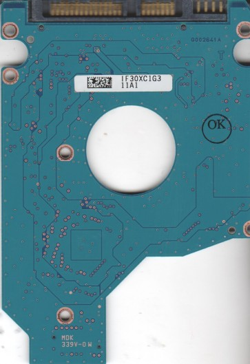 MK6465GSXN, HDD2J11 S QL01 S, G002641A, Toshiba 640GB SATA 2.5 PCB