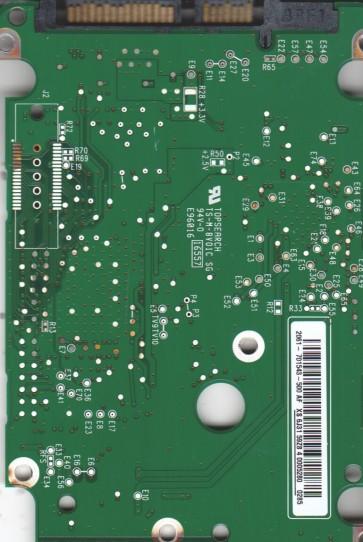 WD1600HLFS-60G6U2, 2061-701543-500 AF, WD SATA 2.5 PCB