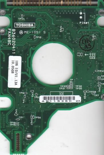 MK1016GAP, HDD2152 P ZE01 T, B36020412011-A, Toshiba 10GB IDE 2.5 PCB