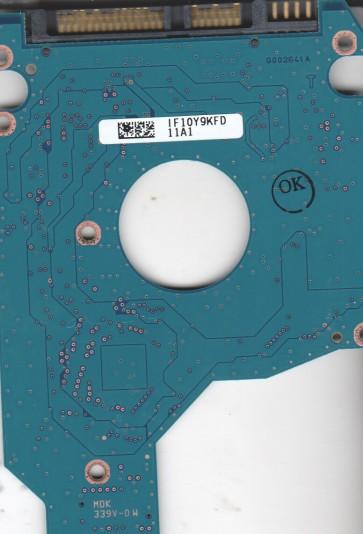 MK3265GSX, HDD2H83 G GL01 T, G002641A, Toshiba SATA 2.5 PCB