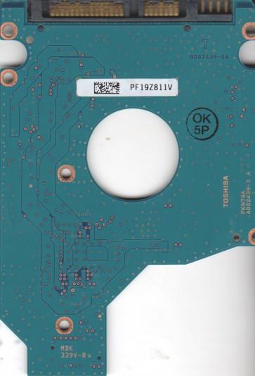 MK5055GSX, HDD2H21 D UL01 T, G002439-0A, Toshiba 500GB SATA 2.5 PCB