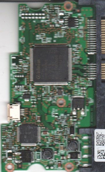 HDT725050VLA360, 0A53047 BA2178_, PN 0A33437, Hitachi 500GB SATA 3.5 PCB