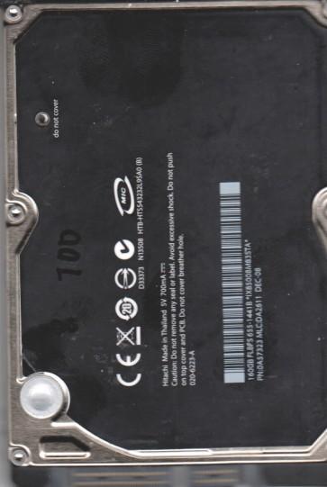 HTS543232L9SA0, PN 0A57323, MLC DA2611, Hitachi 160GB SATA 2.5 BSectr HDD