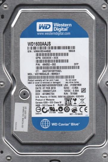 WD1600AAJS-60M0A1, DCM HBNNHTJCH, Western Digital 160GB SATA 3.5 Hard Drive