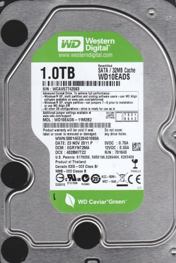 WD10EADS-11M2B2, DCM EGRYNT2MA, Western Digital 1TB SATA 3.5 Hard Drive