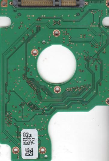HTS541616J9SA00, 0A53120 DA1684B, PN 0A50687, Hitachi 160GB SATA 2.5 PCB