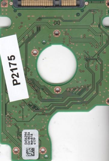 HTS542516K9SA00, 0A54296 DA1803A, PN 0A54914, Hitachi 160GB SATA 2.5 PCB