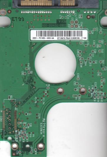 WD1600BEVS-00RST0, 2061-701450-W00 AA, WD SATA 2.5 PCB
