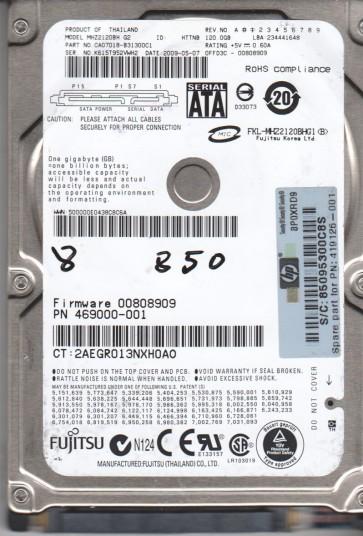 MHZ2120BH G2, PN CA07018-B31300C1, Fujitsu 120GB SATA 2.5 BSectr HDD
