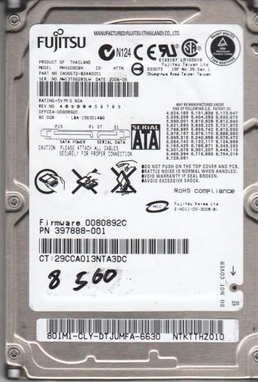 MHV2080BH, PN CA0662-B24400C1, Fujitsu 80GB SATA 2.5 BSectr HDD