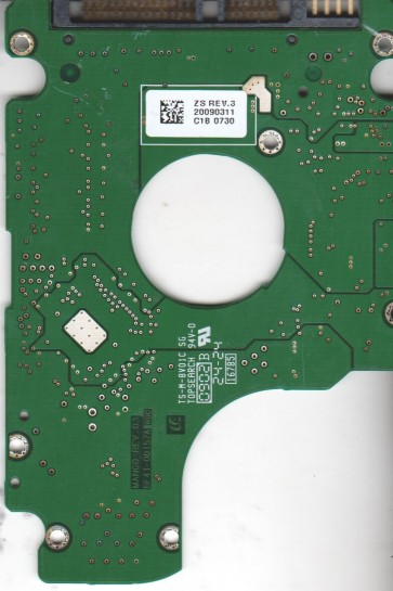 HM160HI, BF41-00157A, FW HH100-14, Samsung 160GB SATA 2.5 PCB