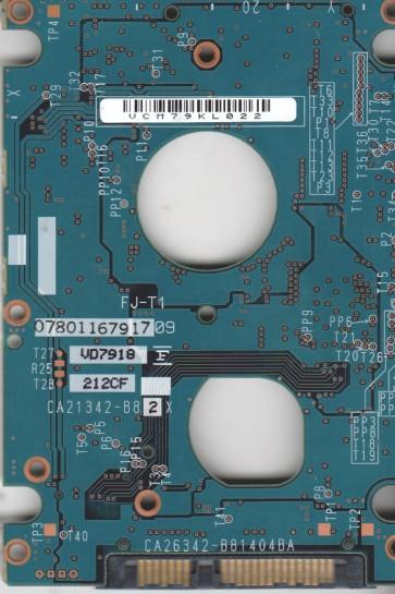 MHW2120BJ G2, PN CA06855-B30600DL, Fujitsu 120GB SATA 2.5 PCB