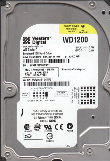WD1200JB-34EVA0, DCM HSBACTJAH, Western Digital 120GB IDE 3.5 Hard Drive