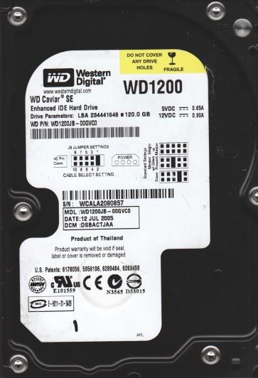WD1200JB-00GVC0, DCM DSBACTJAA, Western Digital 120GB IDE 3.5 Hard Drive