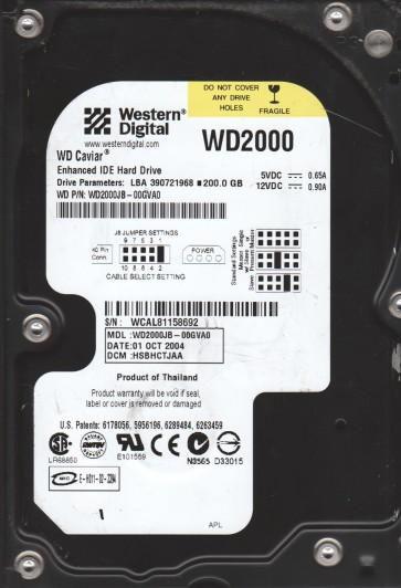 WD2000JB-00GVA0, DCM HSBHCTJAA, Western Digital 200GB IDE 3.5 Hard Drive