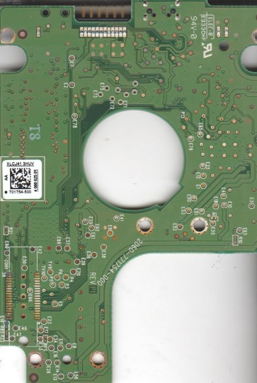 WD10TMVV-11TK7S1, 701754-500 AA, WD USB 2.5 PCB