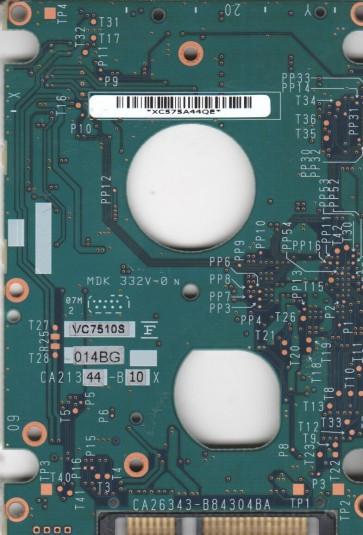 MHW2160BH PL, CA06820-B41800C1, CA26343-B84304BA, Fujitsu SATA 2.5 PCB