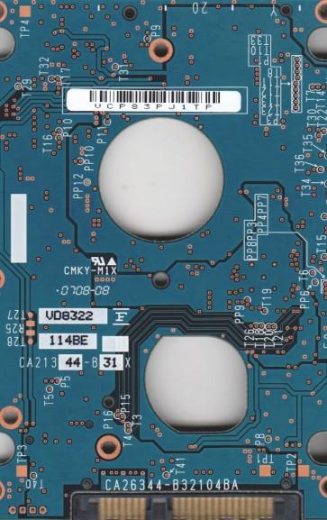 MHY2120BH, PN CA06889-B31500MS, Fujitsu 120GB SATA 2.5 PCB