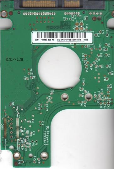 WD800BEVS-22RST0, 2061-701450-Z00 AF, WD SATA 2.5 PCB