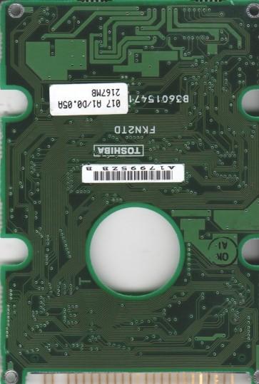 MK2103MAV, HDD2716 C ZE01 T, B36015472013-A, Toshiba IDE 2.5 PCB