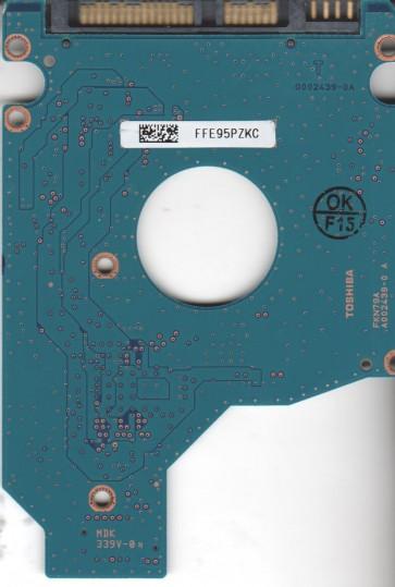 MK1255GSX, HDD2H26 H ZK01 S, G002439-0A, Toshiba 120GB SATA 2.5 PCB
