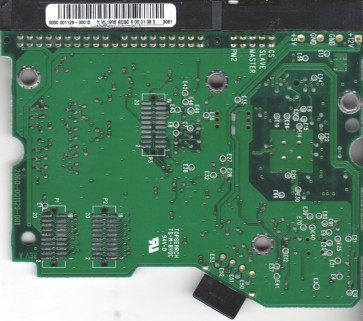 WD400BB-75DEA0, 0000 001129-000 D, WD IDE 3.5 PCB