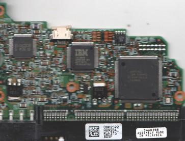 IC35L060AVV207-0, 08K2592 H69284_, PN 13G0222, Hitachi 60GB SATA 3.5 PCB