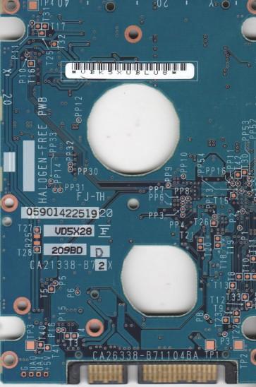 MHV2100BH, PN CA06672-B265000T, Fujitsu 100GB SATA 2.5 PCB
