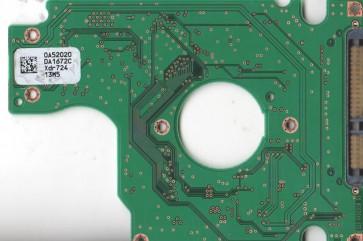 HTS541660J9SA00, 0A52020 DA1672C, 0A55027, DA1982, Hitachi SATA 2.5 PCB