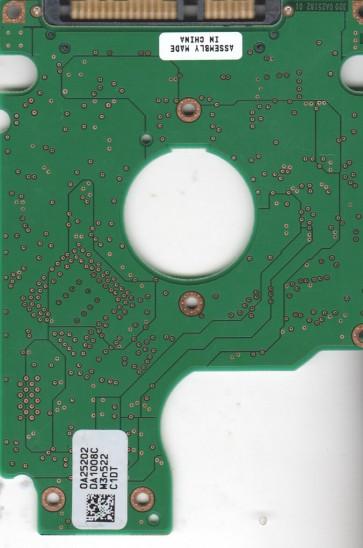 HTS541010G9SA00, 0A25202 DA1008C, PN 0A26145, Hitachi 100GB SATA 2.5 PCB