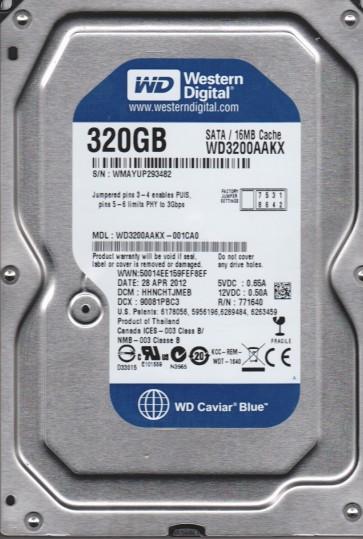 WD3200AAKX-001CA0, DCM HHNCHTJMEB, Western Digital 320GB SATA 3.5 Hard Drive