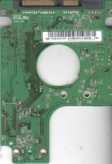 WD7500KEVT-00A28T0, 2061-701672-C01 01P, WD SATA 2.5 PCB