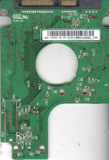 WD7500KEVT-00A28T0, 2061-701672-001 01P, WD SATA 2.5 PCB