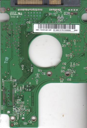 WD1600BEVT-22A23T0, 2061-701672-601 01P, WD SATA 2.5 PCB