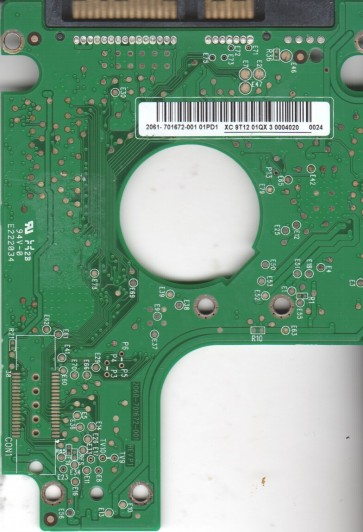 WD2500BEVT-00A23T0, 2061-701672-001 01PD1, WD SATA 2.5 PCB