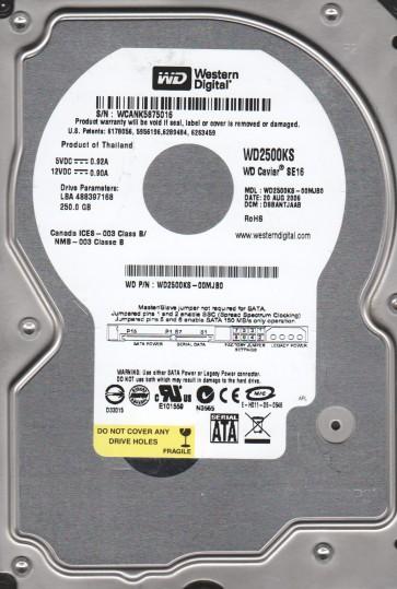 WD2500KS-00MJB0, DCM DSBANTJAAB, Western Digital 250GB SATA 3.5 Hard Drive