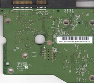 WD20EARS-00S8B1, 2061-771642-X01 01PD4, WD SATA 3.5 PCB