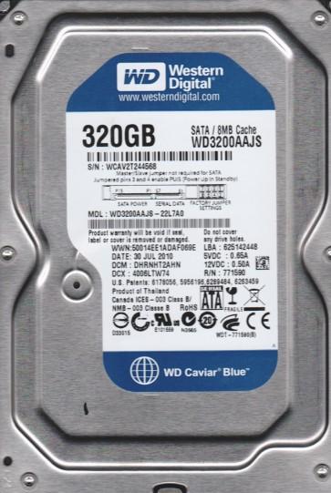 WD3200AAJS-22L7A0, DCM DHRNHT2AHN, Western Digital 320GB SATA 3.5 Hard Drive