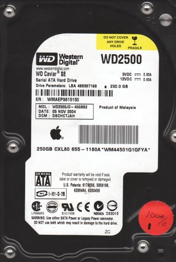 WD2500JD-40GBB2, DCM DSCHCTJAH, Western Digital 250GB SATA 3.5 Hard Drive