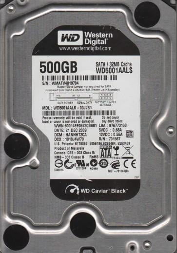 WD5001AALS-00J7B1, DCM HANNHT2CA, Western Digital 500GB SATA 3.5 Hard Drive